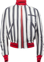 Haider Ackermann striped bomber jacket - men - Silk/Cotton/Rayon - S