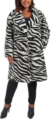 Rachel Roy Plus Medium Wool-Blend Coat