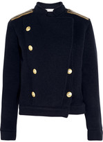 Pierre Balmain Chain-embellished Wool-blend Jacket - Navy