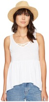 BB Dakota Catherine Burnout Babydoll Tank Top Women's Sleeveless