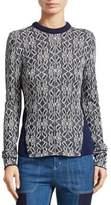 Chloé Metallic Jacquard Knit Sweater