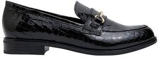 Sandler Paragon Black Patent Croc Flat Shoes Black