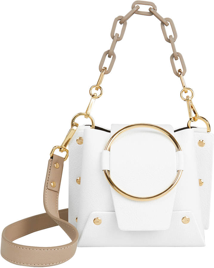Yuzefi Delila Gold Chain White Bag