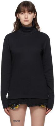 Versace Jeans Couture Black Logo Turtleneck