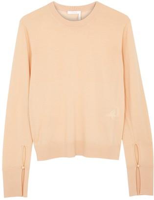 Chloé Peach Fine-knit Wool Jumper