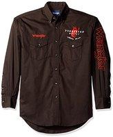 Wrangler Men's Logo Two Pocket Long Sleeve Woven Shirt