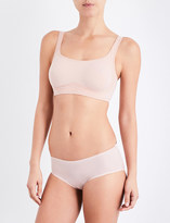Wolford Signature Skin cropped stretch-cotton bra