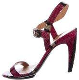 Sergio Rossi Snakeskin Stripe Sandals