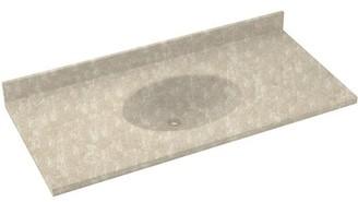 """Swan Chesapeake Solid Surface 55"""" Single Bathroom Vanity Top Top Finish: Cloud Bone"""