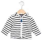 Petit Bateau Boys' Striped Hooded Cardigan