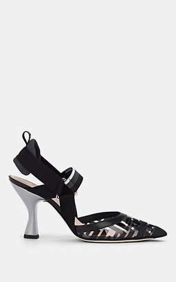 Fendi Women's Sculpted-Heel PVC & Leather Pumps - Black