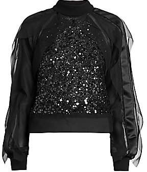 Sacai Women's Sequin-Embroidered Top