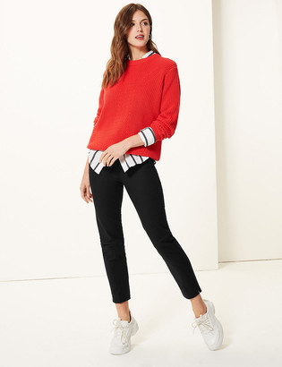 Marks and Spencer Mia Slim Cotton Rich 7/8 Trousers