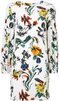 Tibi elasticated cuffs floral dress - women - Silk/Rayon - 8