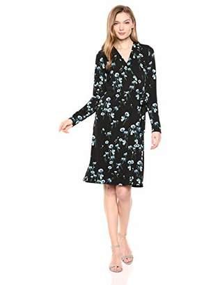 Lark & Ro Women's Signature Long Sleeve Wrap Dress