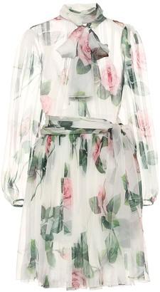 Dolce & Gabbana Floral silk-chiffon dress