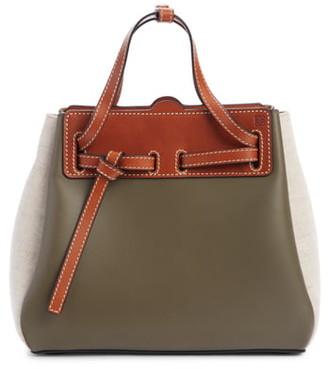Loewe Mini Lazo Leather & Canvas Bag
