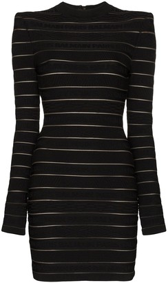 Balmain Logo Stripe Mini Dress