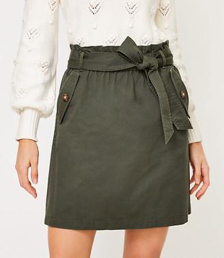 LOFT Tie Waist Pocket Skirt