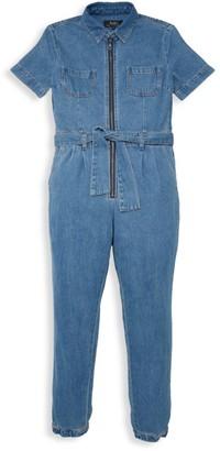Bardot Junior Girl's Denim Zip Jumpsuit