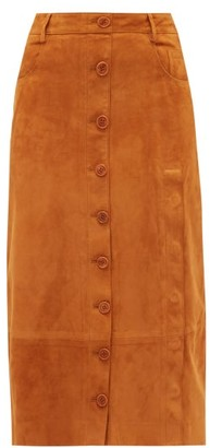 Altuzarra Westwind Suede Skirt - Tan