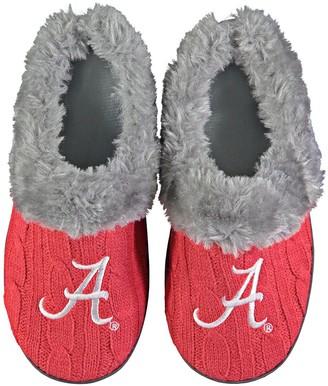 Women's Alabama Crimson Tide Cable Knit Slide Slippers