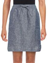 Lord & Taylor Dolphin Hem Linen Skirt