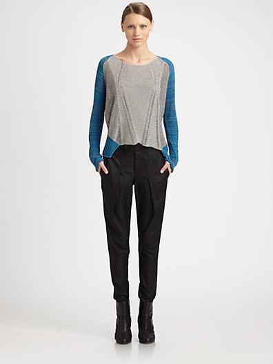 Helmut Lang Transparent Melange Sweater