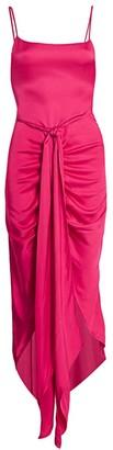 Cult Gaia Natasha Tie-Waist High Low Dress