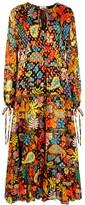 Rixo Lori Floral-print Chiffon Maxi Dress