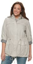 Levi's Plus Size Hooded Roll-Tab Anorak Jacket
