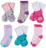 Stride Rite Toddler Girl 6-pk. Critter Face Crew Socks