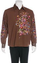Paul Smith Floral Embroidered Shirt