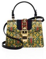 Gucci Mini Sylvie Multicolor Brocade Top Handle Bag