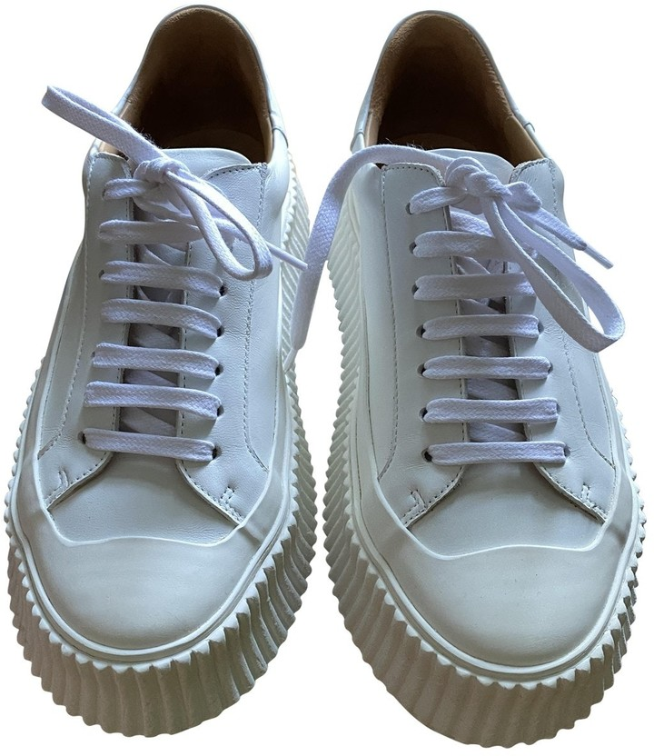 Jil Sander White Leather Trainers