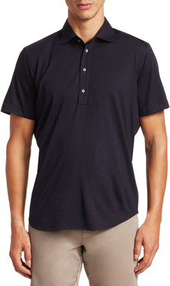 Saks Fifth Avenue COLLECTION Short Sleeve Solid Active Polo