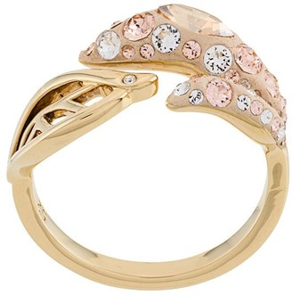 Swarovski Embellished Leaf Ring