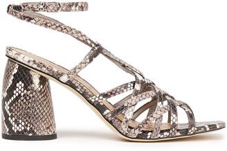 Sam Edelman Daffodil Snake-effect Leather Sandals