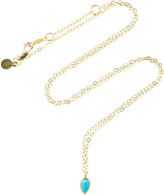 Ila Tarina 14K Gold Turquoise Necklace