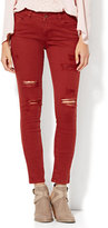 New York & Co. Soho Jeans - Destroyed SuperStretch Legging - Red