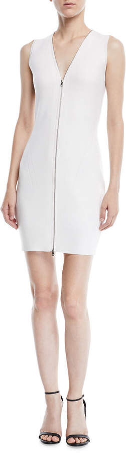 Rag & Bone Vivienne Rib-Knit Zip-Up Sweater Dress