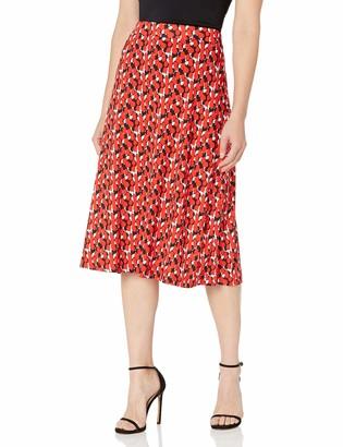 Kasper Women's Printed MIDI Flared Skirt