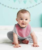 Skip Hop Light Pink & Gray Petite Triangle Reversible Bib