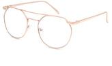 Full Tilt BLUE CROWN Flat Top Clear Lens Aviator Glasses