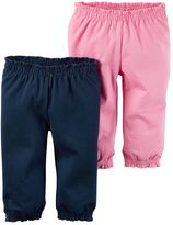 Carter's Baby Girl 2-pk. Solid Cinched Pants