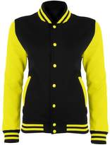 AWDis Just Hoods Womens/Ladies Electric Varsity Jacket (XL)