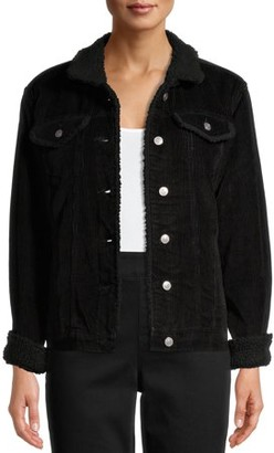 Time and Tru Women's Sherpa Lined Corduroy Jacket
