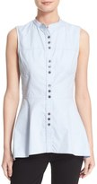 Derek Lam 10 Crosby Peplum Hem Cotton Poplin Shirt