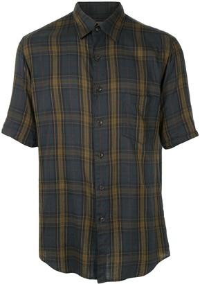 Yohji Yamamoto Pre Owned Check Print Shirt
