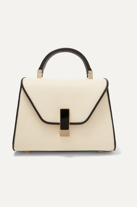 Valextra Iside Micro Two-tone Textured-leather Shoulder Bag - White